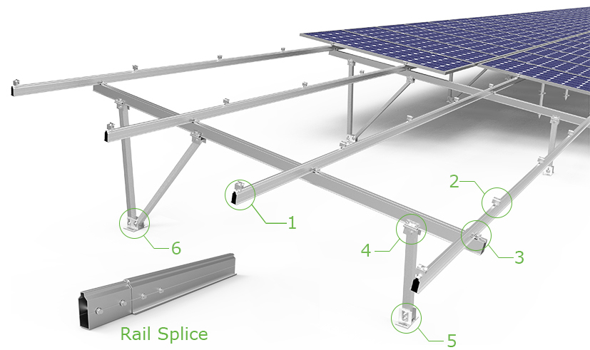 CP-KC-A type Aluminum Ground Mounting System