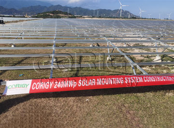 CORIGY SOLAR delivered 240MWp ground mounting system within 4 months